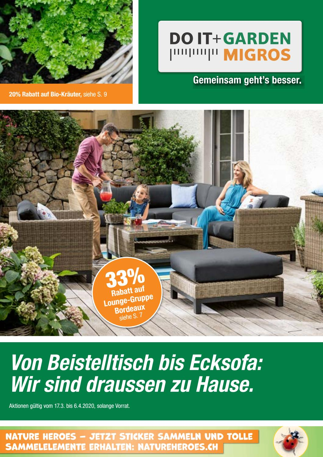 Full Size of Garten Ecksofa Set Memphis Do It Garden Aktionsflyer Kw12 De By Migros Wohnzimmer Garten Ecksofa Set Memphis