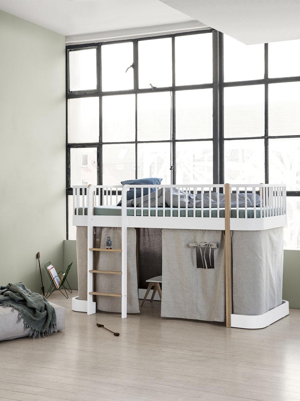 Full Size of Halbhohes Hochbett Oliver Furniture Wood Kind Der Stadt Bett Wohnzimmer Halbhohes Hochbett