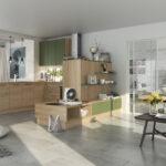 Moderne Küche U Form Wohnzimmer Wohnliche Holzkche Mit Grnen Elementen In U Form Geplant Küche Zusammenstellen Singleküche Kühlschrank Rechtsanwalt Bad Kreuznach Lounge Möbel Garten Led