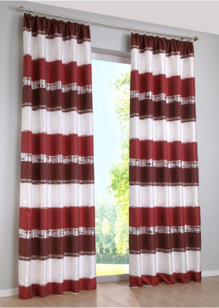 Medium Size of Bon Prix Vorhänge Stilvoller Jacquard Vorhang Mit Querstreifen Bordeaux Wohnzimmer Küche Bonprix Betten Schlafzimmer Wohnzimmer Bon Prix Vorhänge