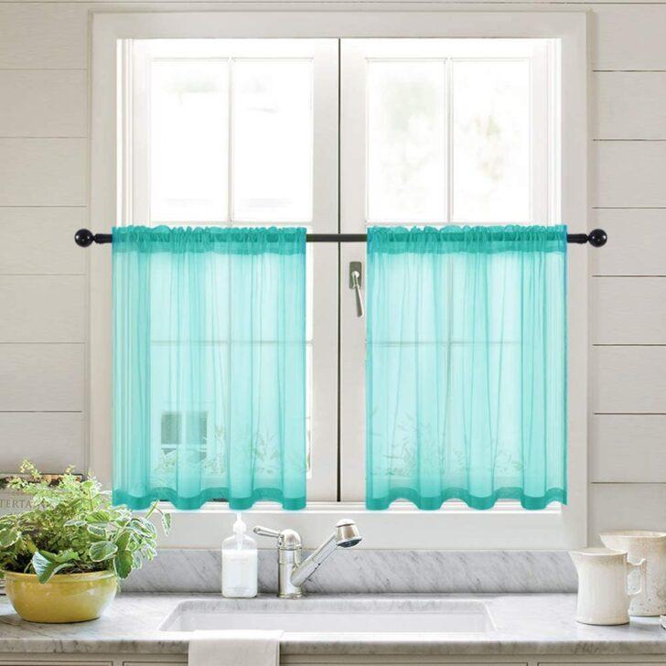 Medium Size of Küchenvorhang Amazonde Miulee 2er Set Kchenvorhang Transparente Wohnzimmer Küchenvorhang