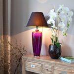Wohnzimmer Tischlampe Modern Lampe Ikea Led Ebay Designer Tischlampen Holz Glaslampe In Strahlendem Violett Als Eyecatcher Woh Großes Bild Hängeschrank Wohnzimmer Wohnzimmer Tischlampe