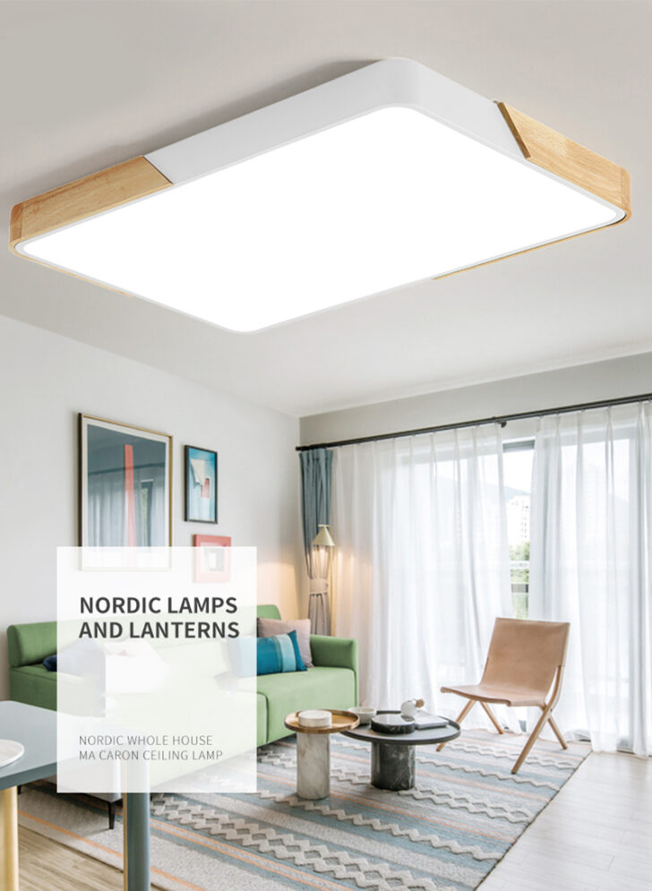 Medium Size of 80w Led Deckenleuchte Rechteckig Deckenlampe Dimmbar Mit Einbauleuchten Bad Wohnzimmer Tisch Deckenleuchten Anbauwand Lampen Stehleuchte Deckenlampen Modern Wohnzimmer Deckenleuchten Wohnzimmer Led