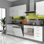 Kche Vario Basic I 240 Cm Kchenzeile In Hochglanz Wei Einbauküche Mit Elektrogeräten Bett Minimalistisch Deckenlampen Wohnzimmer Modern Sideboard Küche Wohnzimmer Mini Küche über Eck
