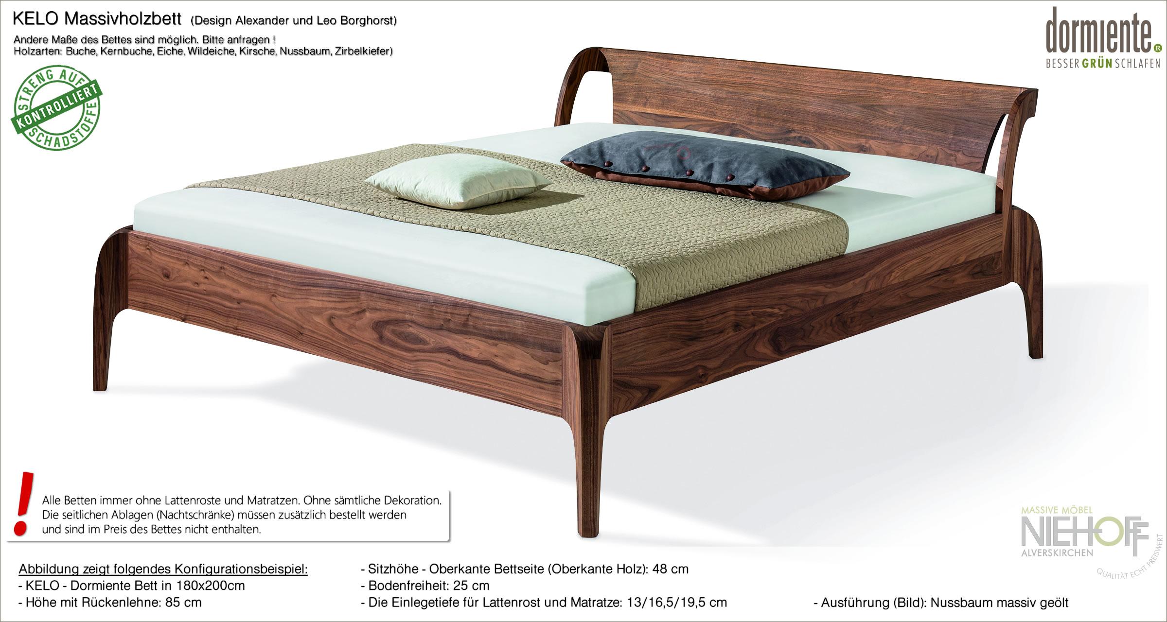 Full Size of Bett Design Holz Kelo Naturholzbett Ein Aus Nachhaltigem Massivholz Von 120x200 Leander Schutzgitter Halbhohes Modernes 180x200 Weißes 90x200 Kinder Himmel Wohnzimmer Bett Design Holz