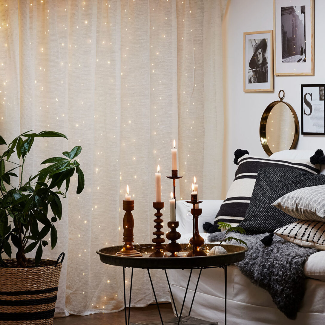 Large Size of Micro Led Vorhang Dew Drops Wohnzimmer Küche Bad Wohnzimmer Vorhang Terrassentür