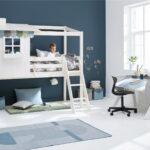 Flexa Classic House Halbhohes Bett Mit Schrgleiter Und 1 2 Wohnzimmer Halbhohes Hochbett