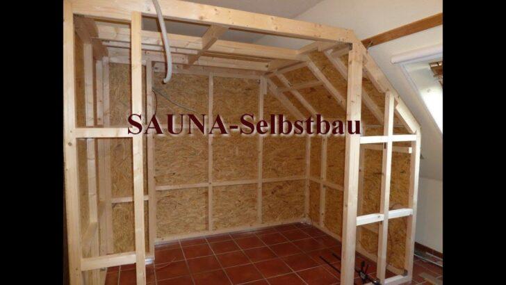 Medium Size of Außensauna Wandaufbau Saunaselbstbau Youtube Wohnzimmer Außensauna Wandaufbau