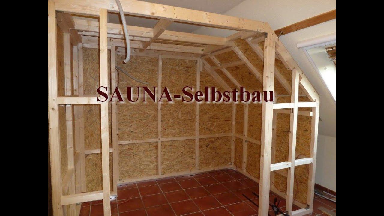 Full Size of Außensauna Wandaufbau Saunaselbstbau Youtube Wohnzimmer Außensauna Wandaufbau