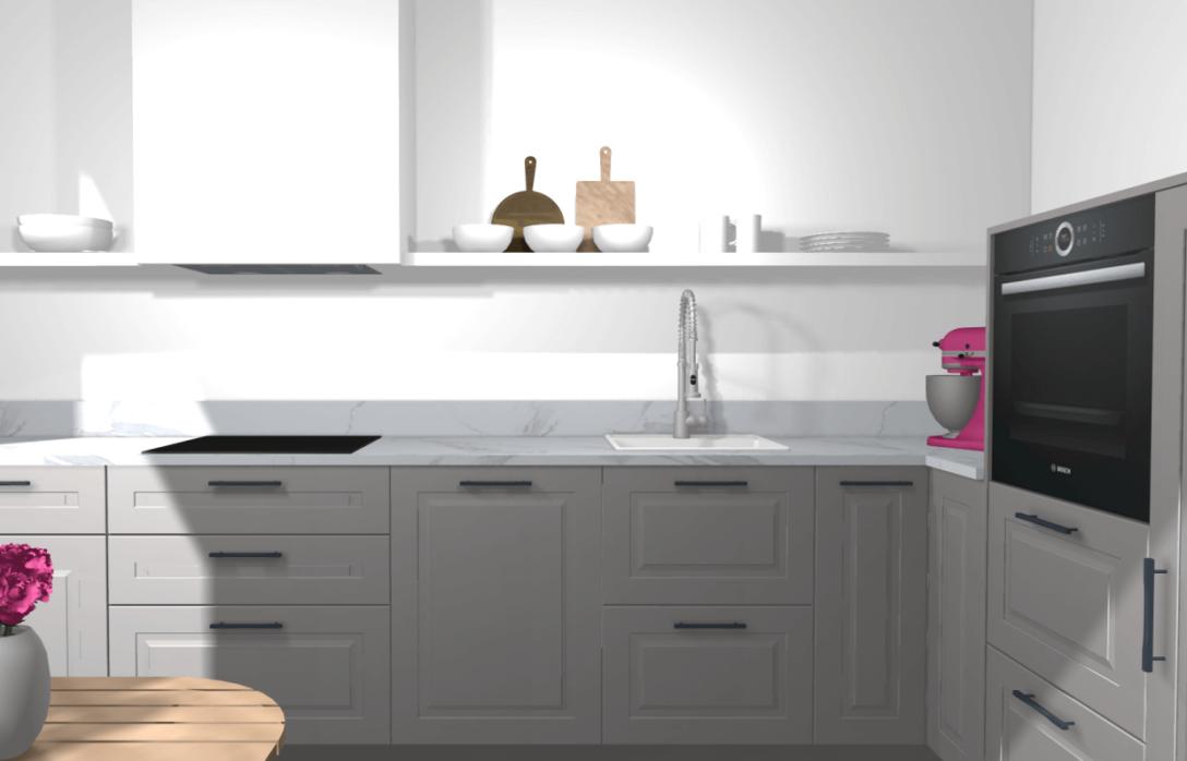 Large Size of Ikea Kche Planen Stylische Designerkche Mit Kleinem Budget Miniküche Laminat In Der Küche Kaufen Fettabscheider Unterschrank Schnittschutzhandschuhe L Wohnzimmer Eckschrank Ikea Küche