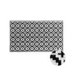 Outdoor Teppich Mosaik Schwarz Wei 150x90cm Butlers Sofa Grau Weiß Offenes Regal Bad Hängeschrank Bett Holz Für Küche Betten Wohnzimmer Weißes 140x200 Wohnzimmer Teppich Schwarz Weiß