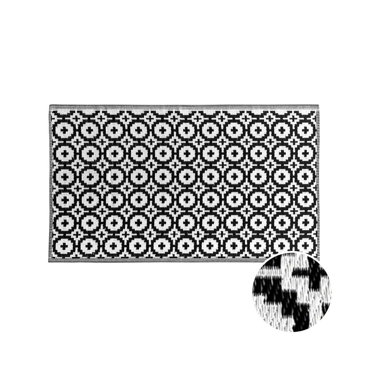 Full Size of Outdoor Teppich Mosaik Schwarz Wei 150x90cm Butlers Sofa Grau Weiß Offenes Regal Bad Hängeschrank Bett Holz Für Küche Betten Wohnzimmer Weißes 140x200 Wohnzimmer Teppich Schwarz Weiß