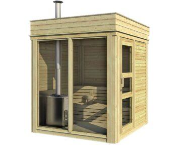 Gartensauna Mit Holzofen Wohnzimmer Gartensauna Mit Holzofen Sauna Cube 2 M Bett 140x200 Bettkasten Miniküche Kühlschrank Stauraum Einbauküche Elektrogeräten Bad Spiegelschrank Beleuchtung