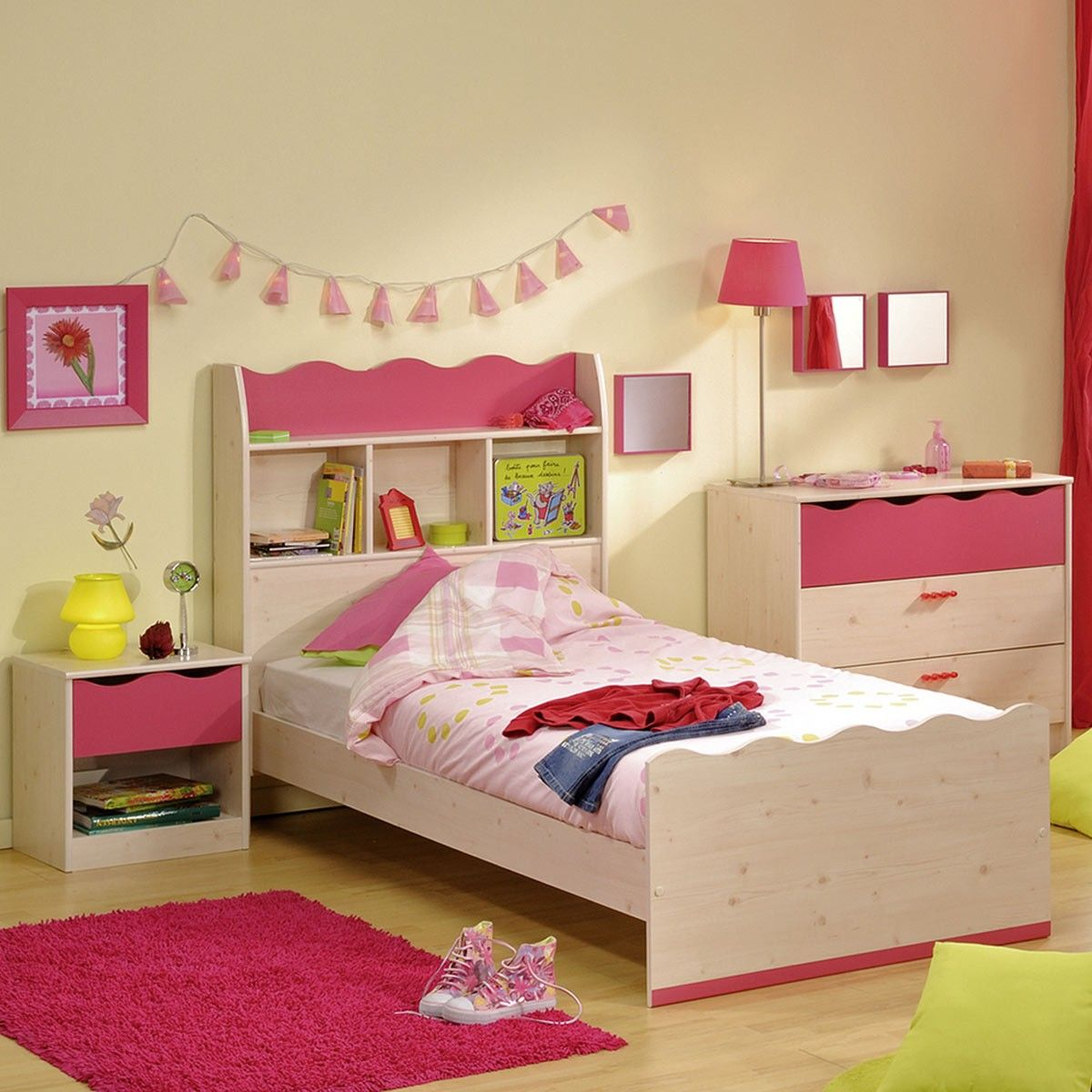Full Size of Mädchenbetten Bett Mit Regal Kinderbett Mdchenbett 90200 In Wohnzimmer Mädchenbetten