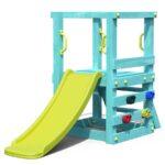 Kleinkind Spielturm Aus Holz Trkis Mit Rutsche Fr Kinderzimmer Klettergerüst Garten Wohnzimmer Klettergerüst Canyon Ridge
