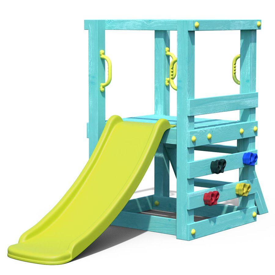 Full Size of Kleinkind Spielturm Aus Holz Trkis Mit Rutsche Fr Kinderzimmer Klettergerüst Garten Wohnzimmer Klettergerüst Canyon Ridge