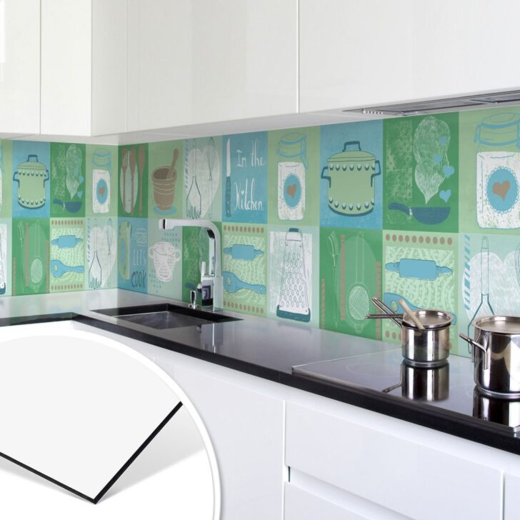 Medium Size of Fliesenspiegel Verkleiden Kchenrckwand Alu Dibond Loske In The Kitchen Küche Glas Selber Machen Wohnzimmer Fliesenspiegel Verkleiden