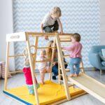 Klettergerüst Indoor Diy Kidwood Klettergerst Aus Holz Rakete Game Set 2 Mit Garten Wohnzimmer Klettergerüst Indoor Diy