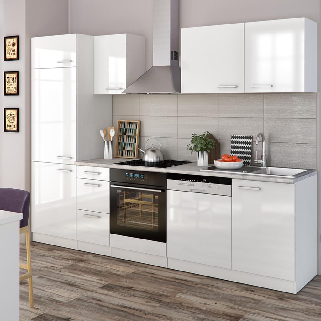 Full Size of Real Küchen Vicco Kche 270 Cm Kchenzeile Kchenblock Regal Wohnzimmer Real Küchen