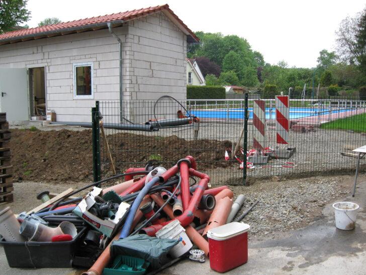 Medium Size of Tsv Settmarshausen Freibad Umbau 2010 Tor Garten Zaun Paletten Regal Bett Aus Kaufen 140x200 Regale Europaletten Wohnzimmer Zaun Paletten