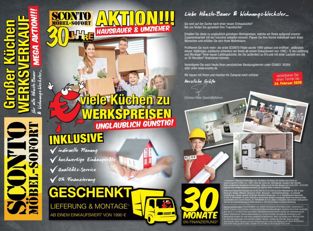 Large Size of Sconto Küchen Aktueller Prospekt 1802 29022020 Jedewoche Rabattede Regal Wohnzimmer Sconto Küchen