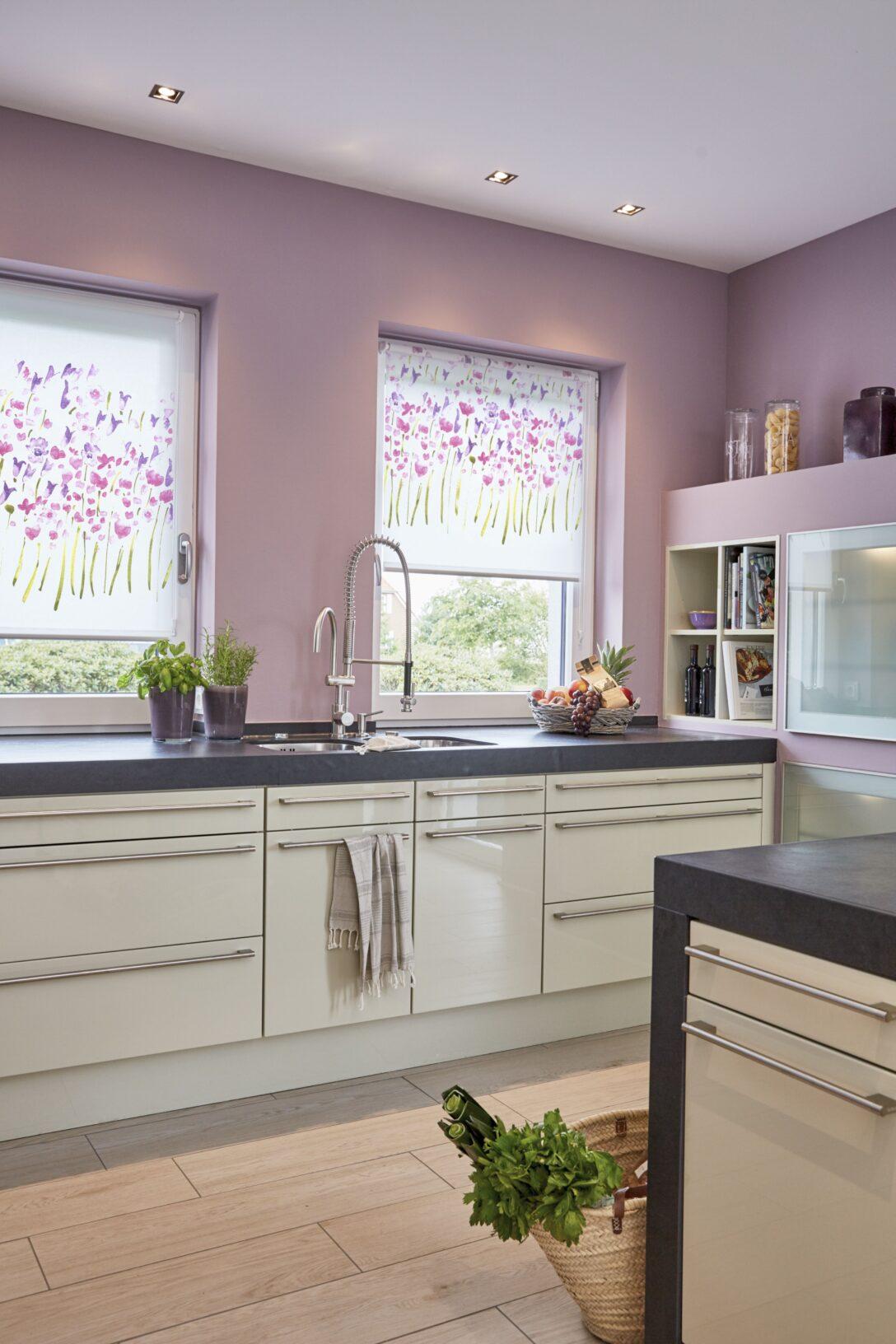 Large Size of Küchen Raffrollo Dekor Rollo Monet Summer Ohne Bohren Mit Bildern Kchen Küche Regal Wohnzimmer Küchen Raffrollo