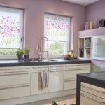 Küchen Raffrollo Dekor Rollo Monet Summer Ohne Bohren Mit Bildern Kchen Küche Regal Wohnzimmer Küchen Raffrollo