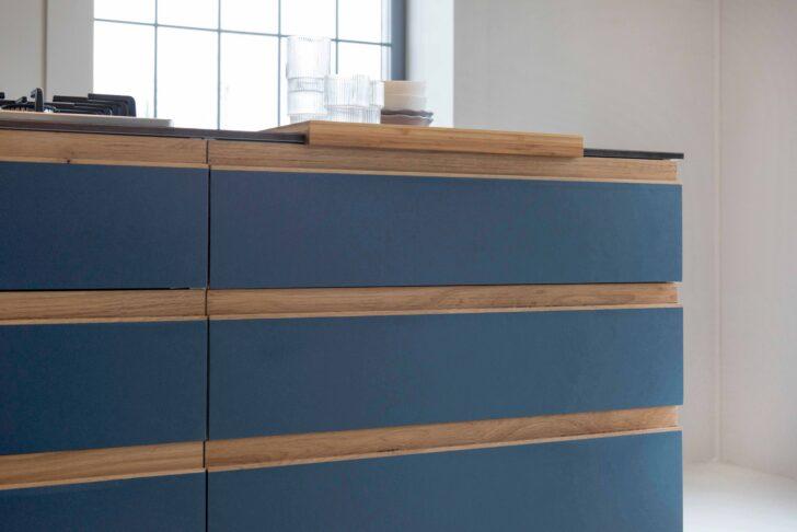 Medium Size of Design Blue St Linoleum Auf Multiplemit Griffleisten Aus Eiche Küche Aufbewahrung Mit Elektrogeräten Günstig Magnettafel Led Beleuchtung Hängeschränke Wohnzimmer Ikea Küche Massivholz