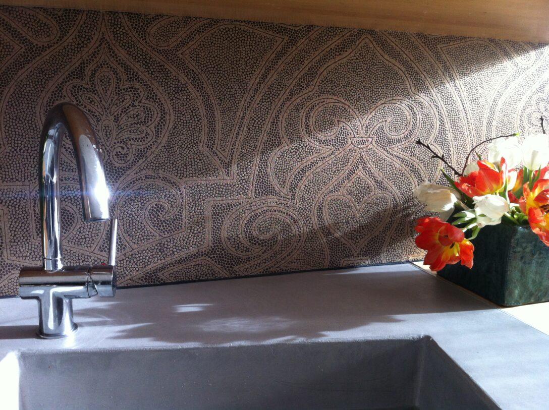 Large Size of Abwaschbare Tapete Küche Kchenrckwand Alternative Zur Fliese Farbefreudeleben Landhausküche Grau Hochglanz Arbeitsschuhe Fliesen Für Komplettküche Kaufen Wohnzimmer Abwaschbare Tapete Küche