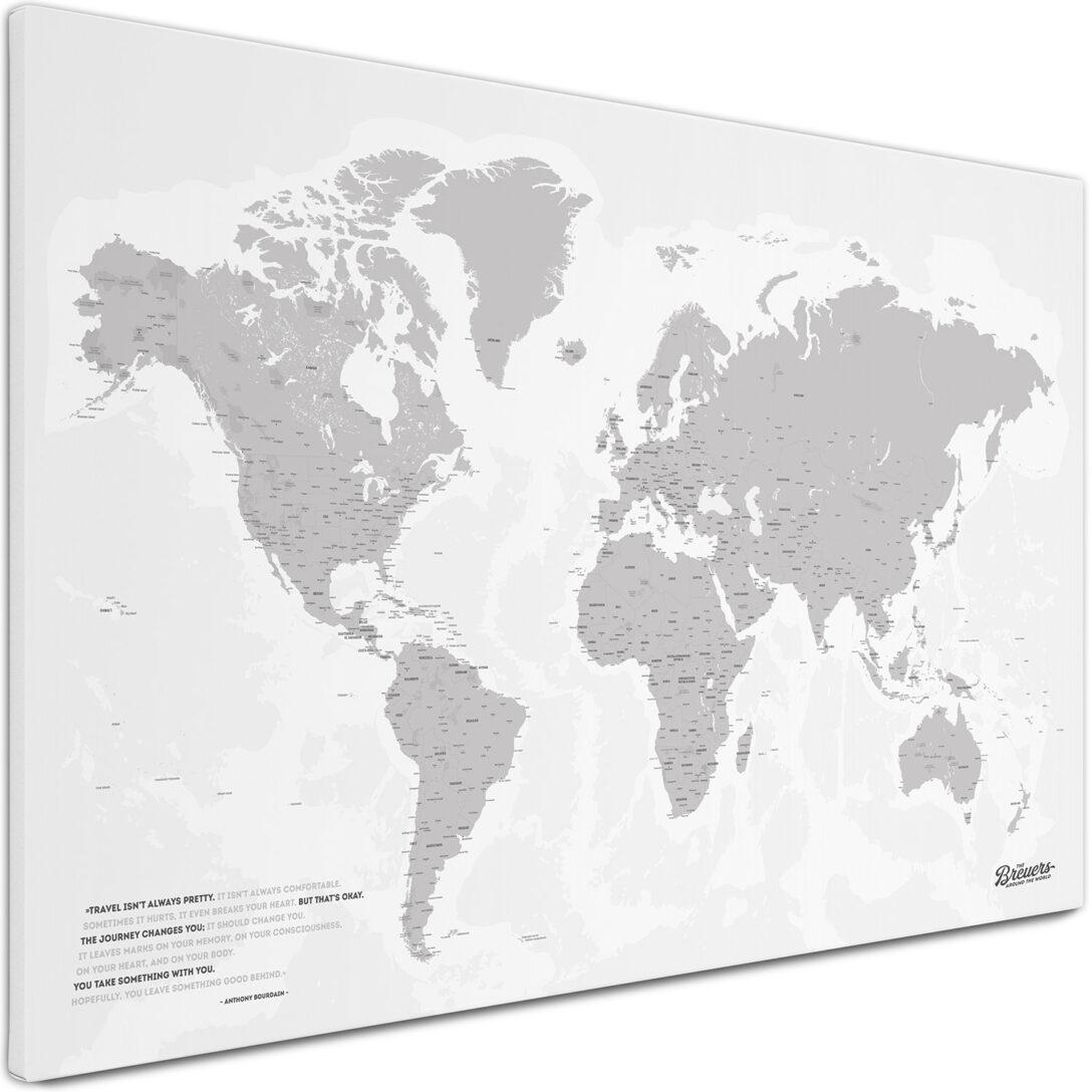 Large Size of Pinnwand Modern Küche Weltkarte Als Individuell Produziert Breuers Reiseblog Sideboard Griffe Mit Kochinsel Mini Magnettafel Ebay Gebrauchte Einbauküche Wohnzimmer Pinnwand Modern Küche
