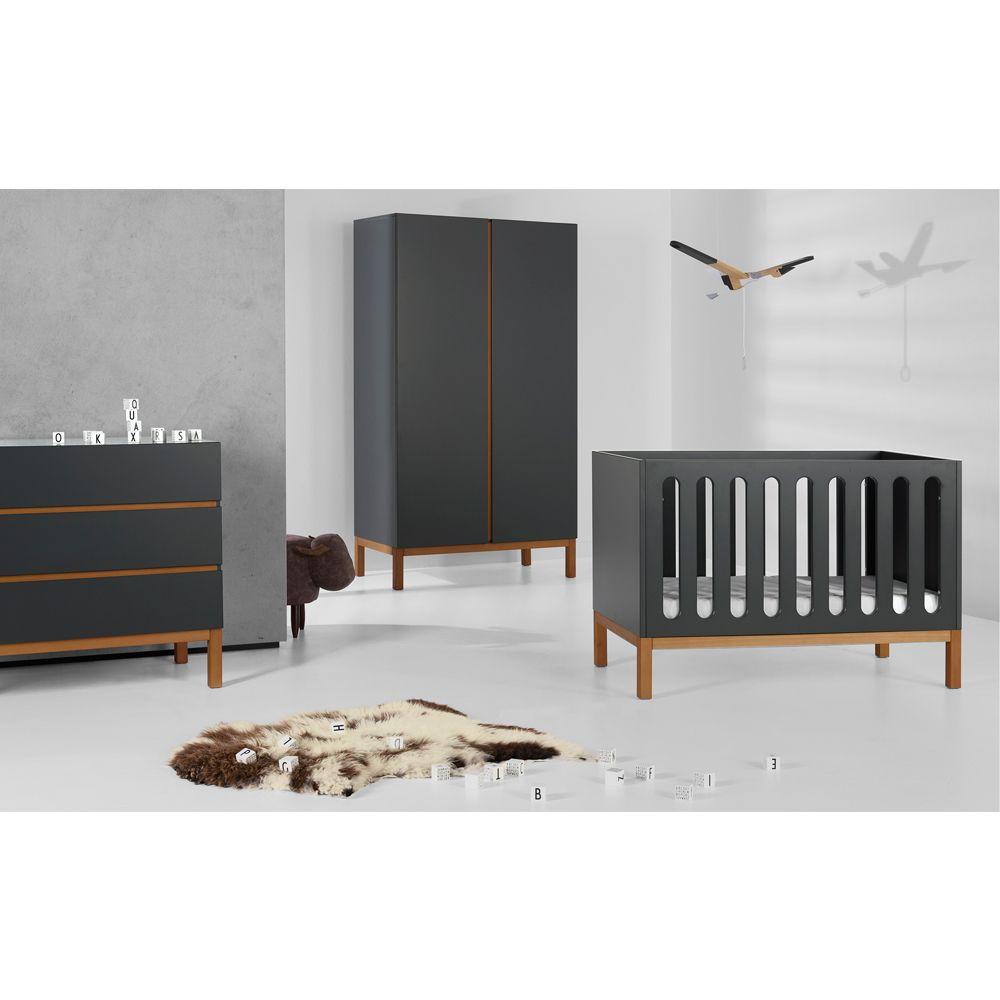 Full Size of Mittwachsendes Babybett Indigo Wei In 2020 Bett Schwarz Weiß 180x200 Schwarzes Schwarze Küche Wohnzimmer Babybett Schwarz