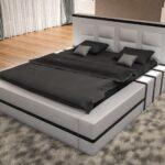 Polsterbett Asti In Schwarz Wei Moderne Betten 200x220 Bett Wohnzimmer Polsterbett 200x220