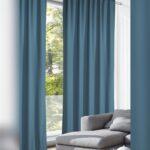Vorhänge Schiene Wohnzimmer Gardinen Vorhang Blickdicht Blau Mittelblau Küche Vorhänge Wohnzimmer Schlafzimmer