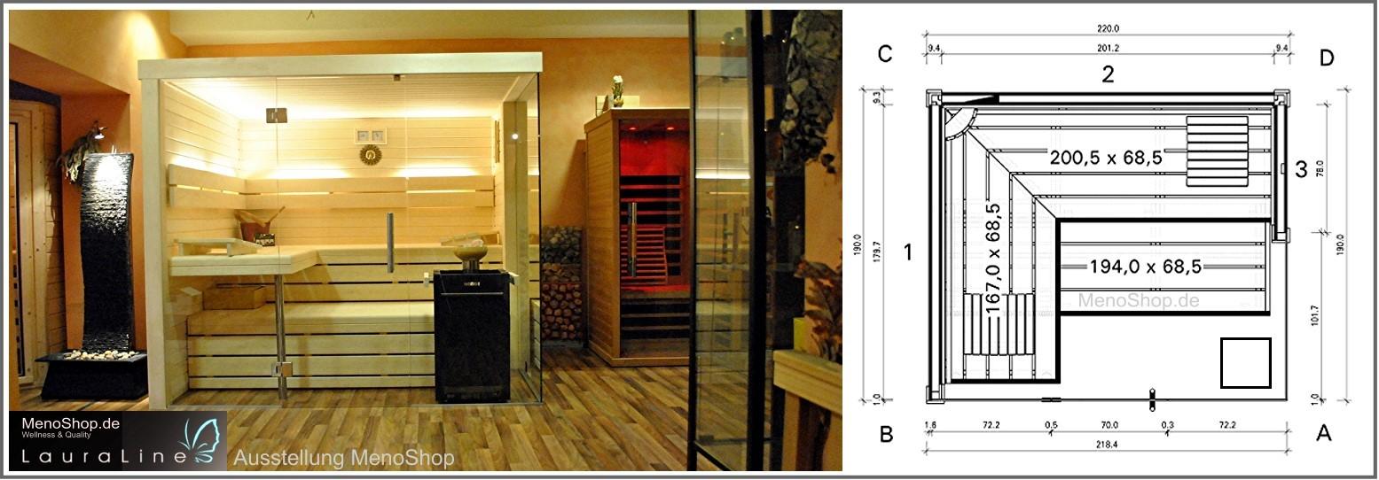 Full Size of Außensauna Wandaufbau Lauraline Sauna Design Glas Glasfront Wohnzimmer Außensauna Wandaufbau