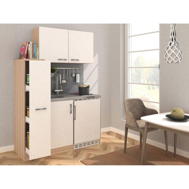 Medium Size of Respekta Minikche Mk130eswosc 130 Cm Wei Eiche Sgerau Wohnzimmer Miniküchen