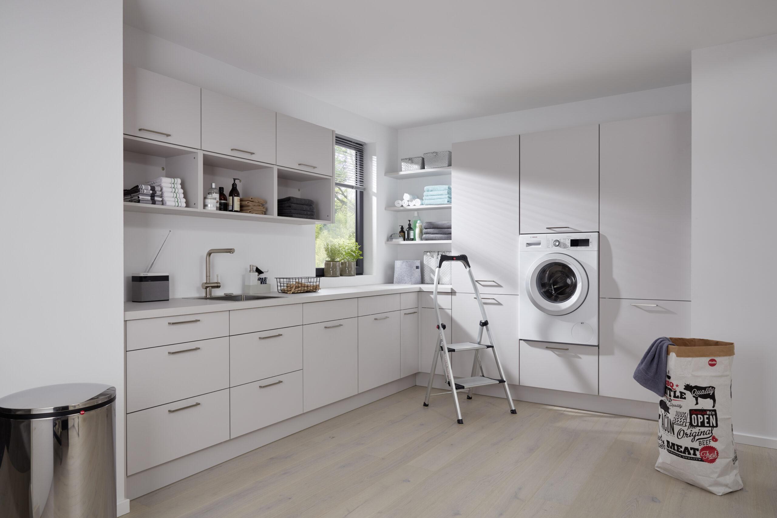 Full Size of Küchenzeile Mit Waschmaschine Einen Hauswirtschaftsraum Planen Und Praktisch Einrichten Kcheco Küche Elektrogeräten Günstig Bett Schreibtisch Stauraum Wohnzimmer Küchenzeile Mit Waschmaschine