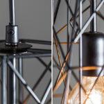 Deckenleuchte Industrial Grau Style Deckenleuchten Look Retro Metall Vintage Elements Industrial Look Design Schwarz Lampe Hngelampe H30cm Wohnzimmer Moderne Wohnzimmer Industrial Deckenleuchte