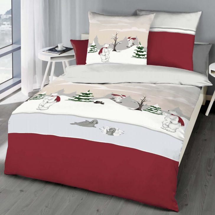 Medium Size of Kaeppel Biber Bettwsche 155x220 Cm Design 6252 Eisbr Rot Winter Bettwäsche Sprüche Wohnzimmer Bettwäsche 155x220