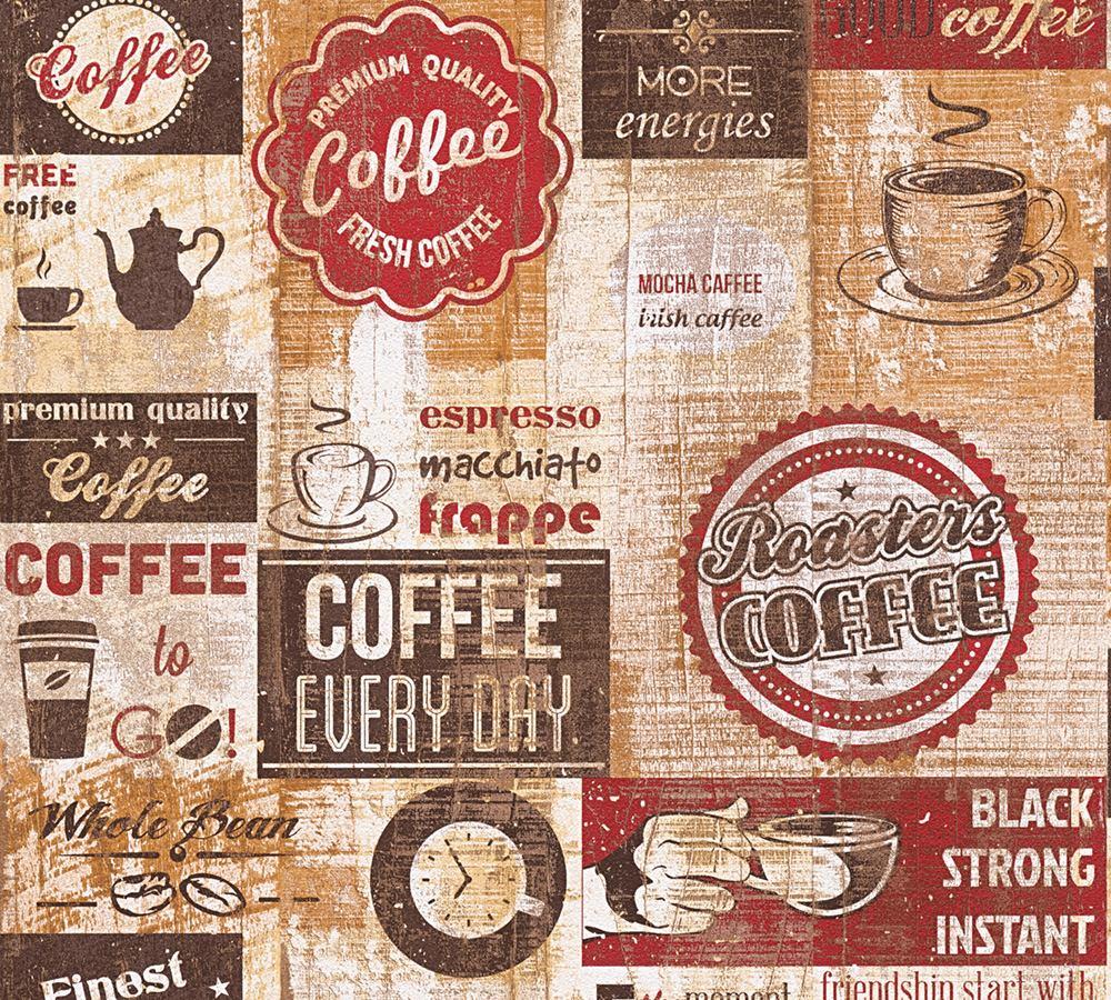 Full Size of Tapete Kaffee Kche Rotbraun 33480 1 Rückwand Küche Glas Industrielook Mit Geräten Massivholzküche Vollholzküche Schwarze Handtuchhalter Eckküche Wohnzimmer Retro Tapete Küche