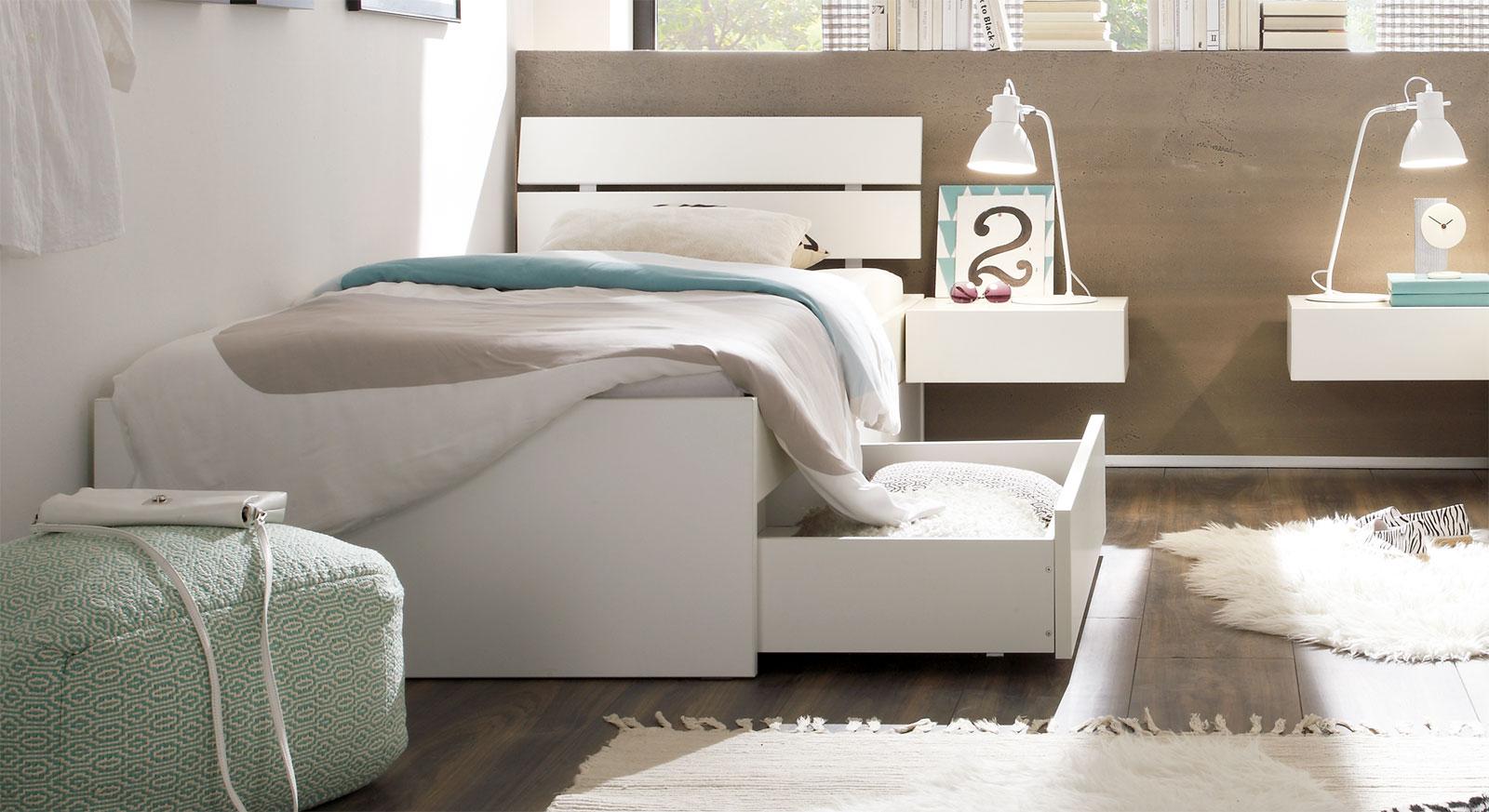 Full Size of Metallbett 100x200 Einzelbett In Zb Cm Mit Schubladen Wei Mocuba Betten Bett Weiß Wohnzimmer Metallbett 100x200