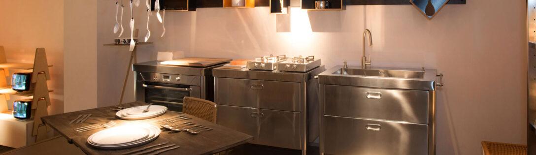 Large Size of Freistehende Küchen Alpes Inoedelstahlkchen Planung Küche Regal Wohnzimmer Freistehende Küchen