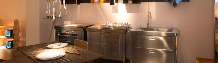 Medium Size of Freistehende Küchen Alpes Inoedelstahlkchen Planung Küche Regal Wohnzimmer Freistehende Küchen