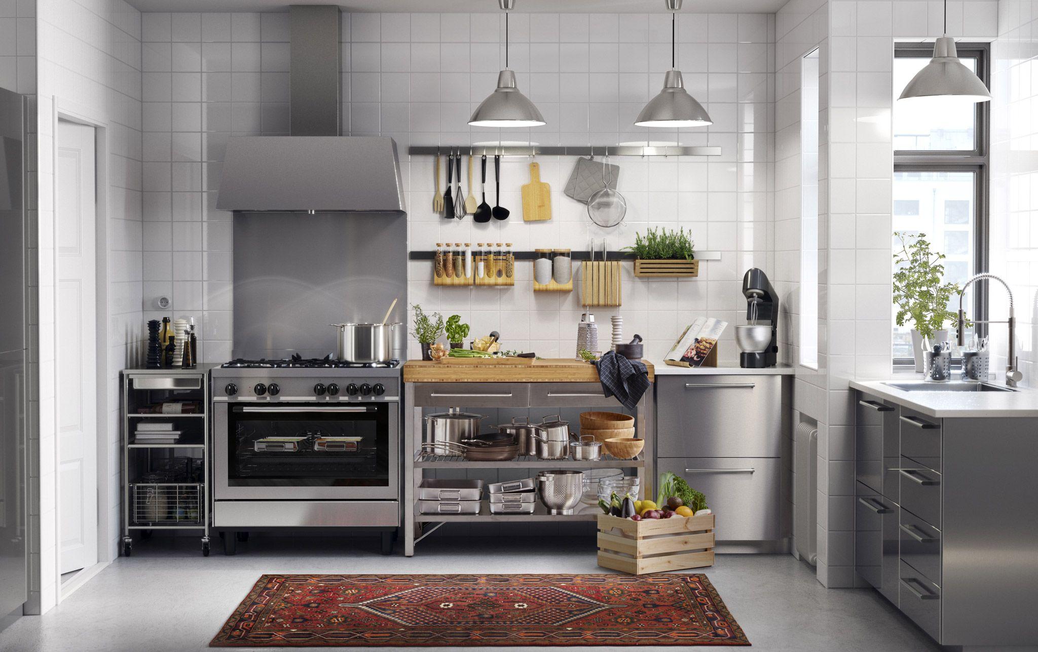 Full Size of Attraktive Kche Aus Edelstahl Nach Ihren Persnlichen Küche Kaufen Ikea Modulküche Edelstahlküche Sofa Mit Schlaffunktion Gebraucht Betten Bei 160x200 Kosten Wohnzimmer Ikea Edelstahlküche