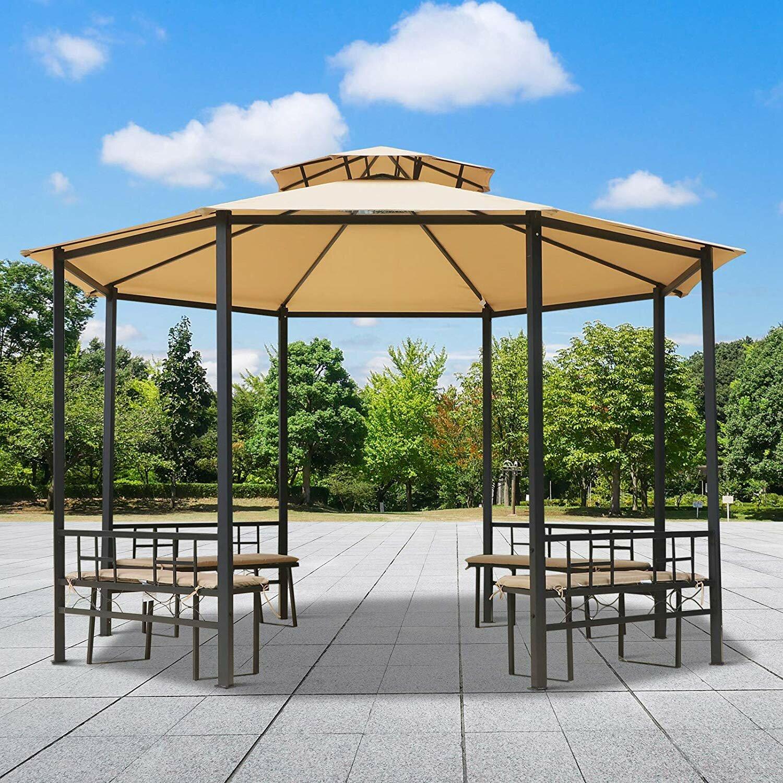 Full Size of Terrassen Pavillon Garten Living 380 Cm Terrassenpavillon Barclay Aus Stahl Wohnzimmer Terrassen Pavillon
