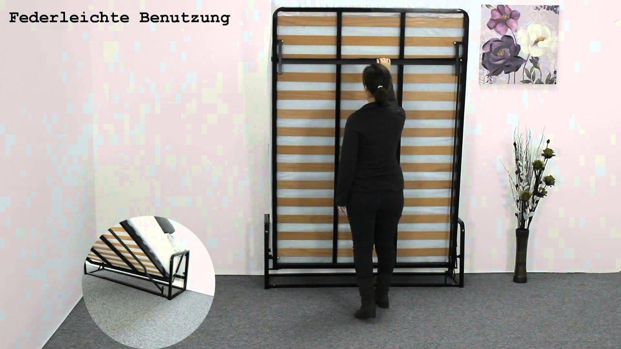 Full Size of Bett Klappbar Wand Klassisches Wandbett Von Wallbedking Youtube Einfaches Massivholz Betten Clinique Even Better Funktions Schrank Mit Bettkasten 160x200 Wohnzimmer Bett Klappbar Wand