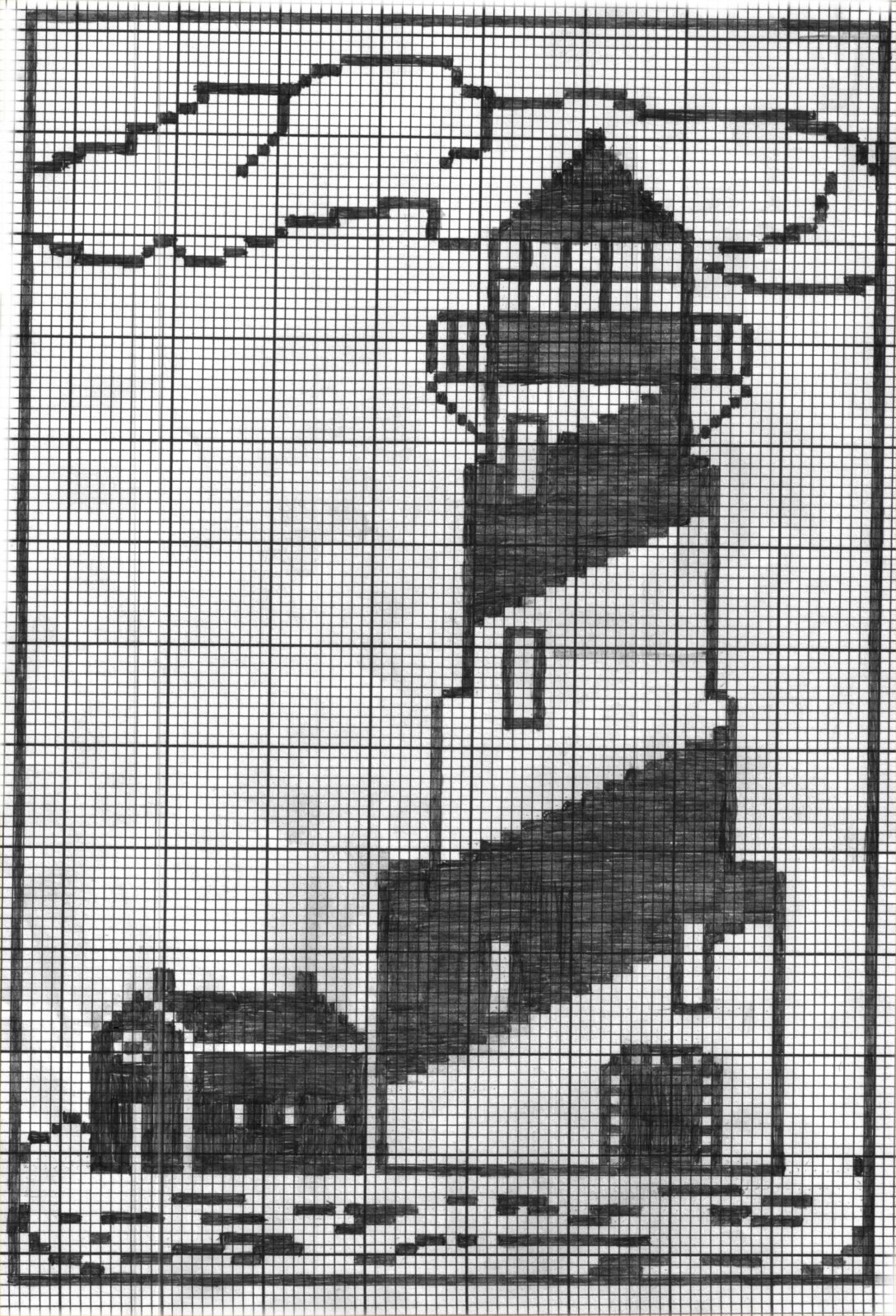 Large Size of Häkelmuster Gardine Lighthouse3jpg 20332985 With Images Filet Crochet Charts Gardinen Für Die Küche Wohnzimmer Schlafzimmer Scheibengardinen Fenster Wohnzimmer Häkelmuster Gardine