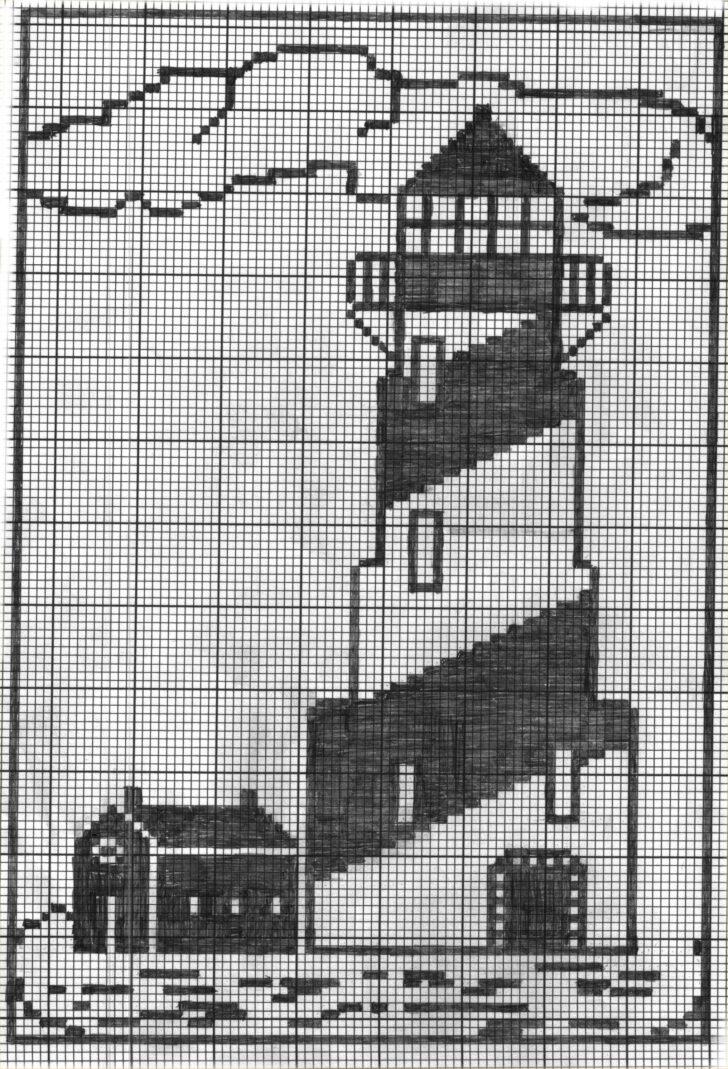 Medium Size of Häkelmuster Gardine Lighthouse3jpg 20332985 With Images Filet Crochet Charts Gardinen Für Die Küche Wohnzimmer Schlafzimmer Scheibengardinen Fenster Wohnzimmer Häkelmuster Gardine