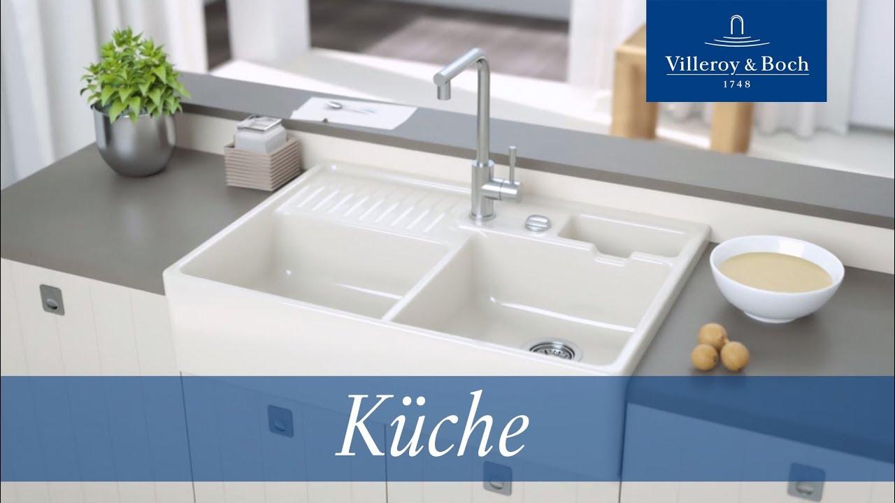Full Size of Spülstein Keramik Montage Splstein Villeroy Boch Youtube Waschbecken Küche Wohnzimmer Spülstein Keramik