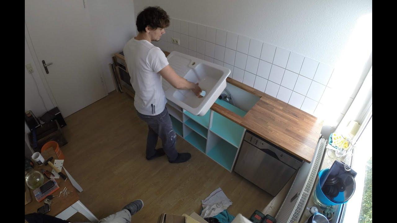 Full Size of Single Küchen Ikea Diy Kche Selbst Gebaut Youtube Küche Kaufen Kosten Betten 160x200 Singleküche Mit E Geräten Kühlschrank Modulküche Regal Miniküche Wohnzimmer Single Küchen Ikea