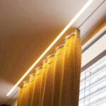 Vorhänge Schiene Wohnzimmer Schwebende Vorhnge Mit Led Effekt Neue Einputzschiene Fr Küche Vorhänge Wohnzimmer Schlafzimmer